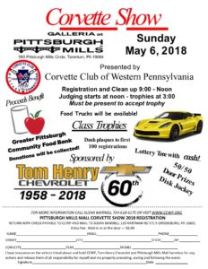 NEW DATE - CCWP - Corvette Show at Mills Mall @ Pittsburgh Mills Mall | Tarentum | Pennsylvania | United States