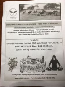 NON-CCWP - United Rays - Nights at the Races @ Universal Volunteer Fire Hall | Pittsburgh | Pennsylvania | United States